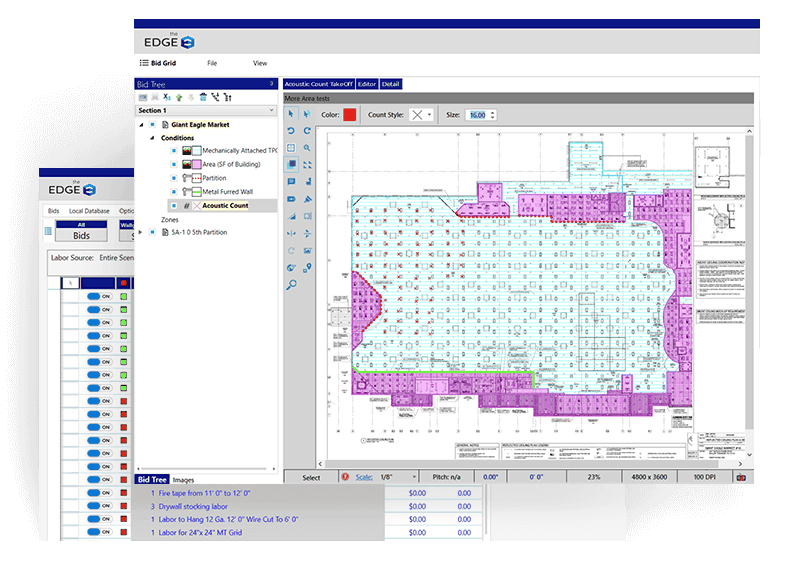 The Edge Roofing estimating software screenshot