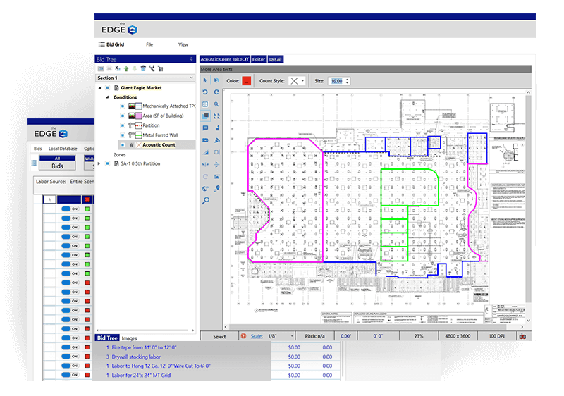 The Edge Flooring estimating software screenshot