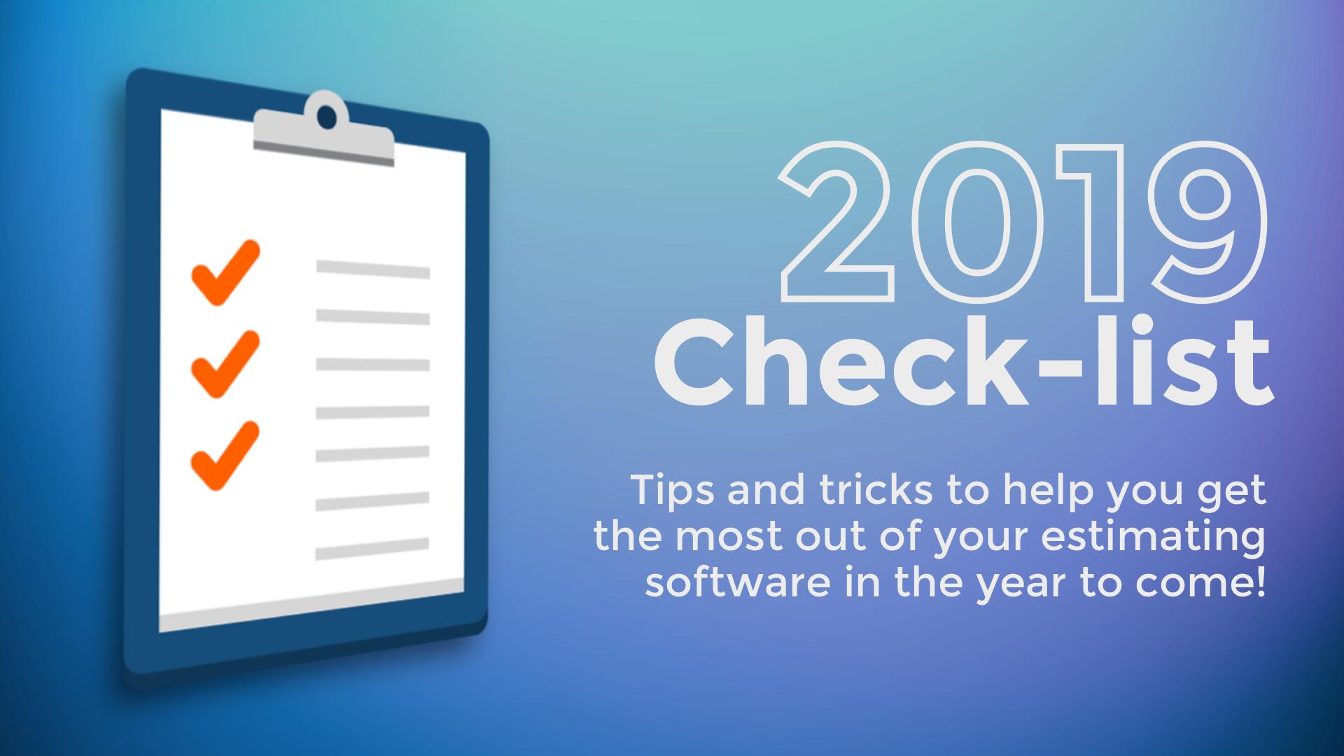 2019 checklist cover