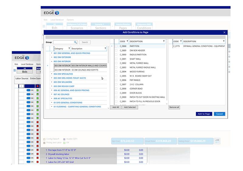 EDGE Commercial Drywall Estimator Screenshot